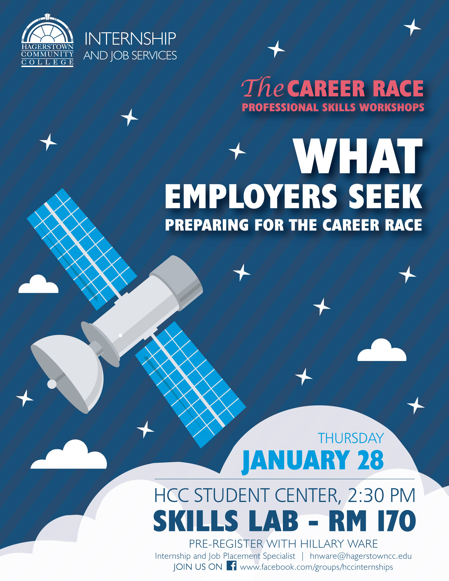 creative mind central hcc the career race workshops campaign what employers seek flyer